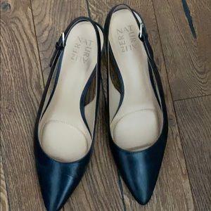 Naturalizer Black Leather Kitten Heels